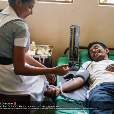 AFMA Blood Donation was another event successfully organized by Accountancy and Financial Management ( (4)