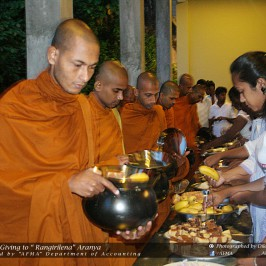 Alms Giving 2015