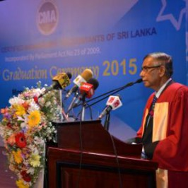 Dr Hilary E Silva and Dr.W.G.S.Kelum at 12th CMA Sri Lanka Graduation Ceremony 2015 at BMICH