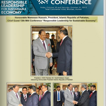Dr. WGS Kelum and Dr. Roshan Ajward was jointly presented and published the Research Paper in the (ICMA) Conference in Pakistan