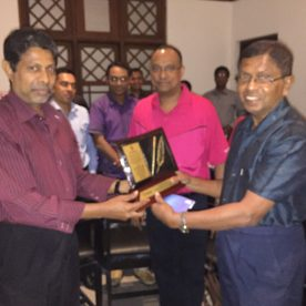 Felicitation party for the former Head of the Department