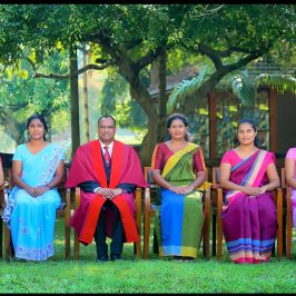 The non-acacadmeic staff joining the 25th anniversary celebrations of the Department of Accounting