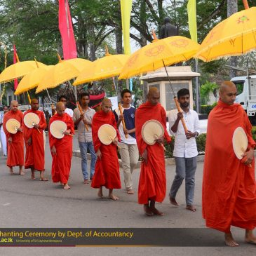 Pirith Chanting Ceremony of Department of Accounting