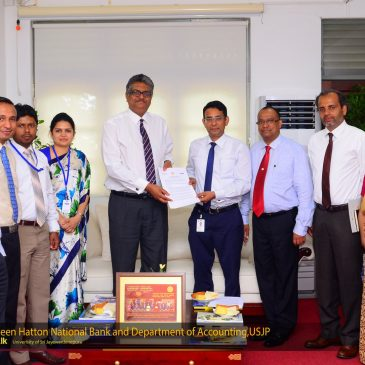 Dept. of Accounting, USJP signs MOU with Hatton National Bank (HNB)