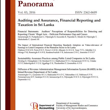 The focus of this issue is the 'Corporate Governance and Financial Reporting in Sri Lanka'