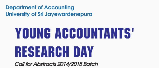 Young Accountants' Research Day