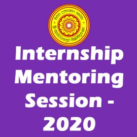 Internship Mentoring Session – 2020