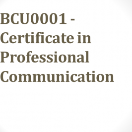 BCU0001 – Certificate in Professional Communication – New Schedule of Lectures
