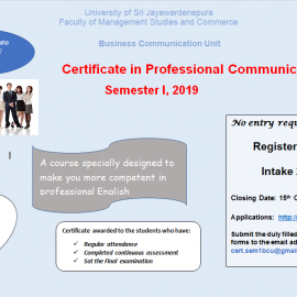 Certificate in Professional Communication