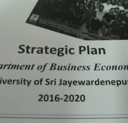 Workshop to Develop Strategic Plan of the Department of Business Economics (2016 – 2020)