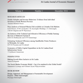 Launch of Sri Lanka Journal of Economic Research (SLJER) Volume 4 Issue 1