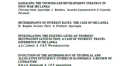 CALL FOR PAPERS: SRI LANKAN JOURNAL OF BUSINESS ECONOMICS, VOLUME 7