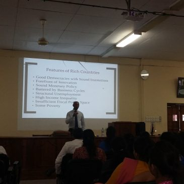 Guest Lecture on Economic Policies and Development
