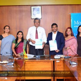 MOU between Department of Business Economics and Moody's Analytics Knowledge Services (Pvt.) Ltd.