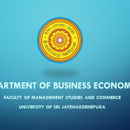 Introduction to the Department of Business Economics