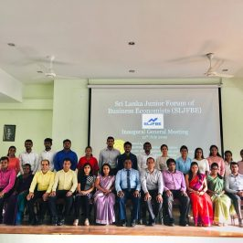 Inauguration of Sri Lanka Forum of Junior Business Economists (SLFJBE)