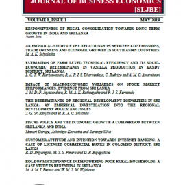 Sri Lankan Journal of Business Economics VOLUME 08 – 2019