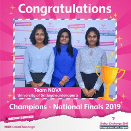 Business Economics Students emerged as National Champions at RB Global Challenge 2019