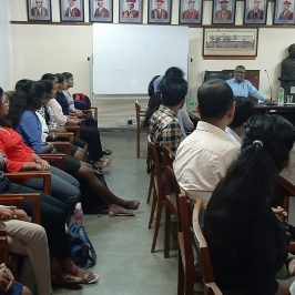 """Guest Lecture on """"Ready Yourself for the Competitive Corporate Sector"""""""