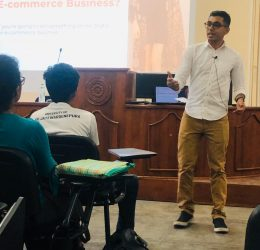 """Guest Lecture on """"Starting an E- Business"""""""