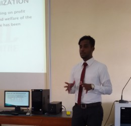 Final Year internship viva presentations were held on 12th January 2016