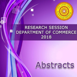 Research Session Abstract – 2019