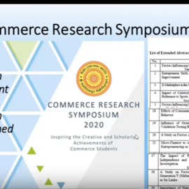 Watch – 2nd Commerce Research Symposium 2020