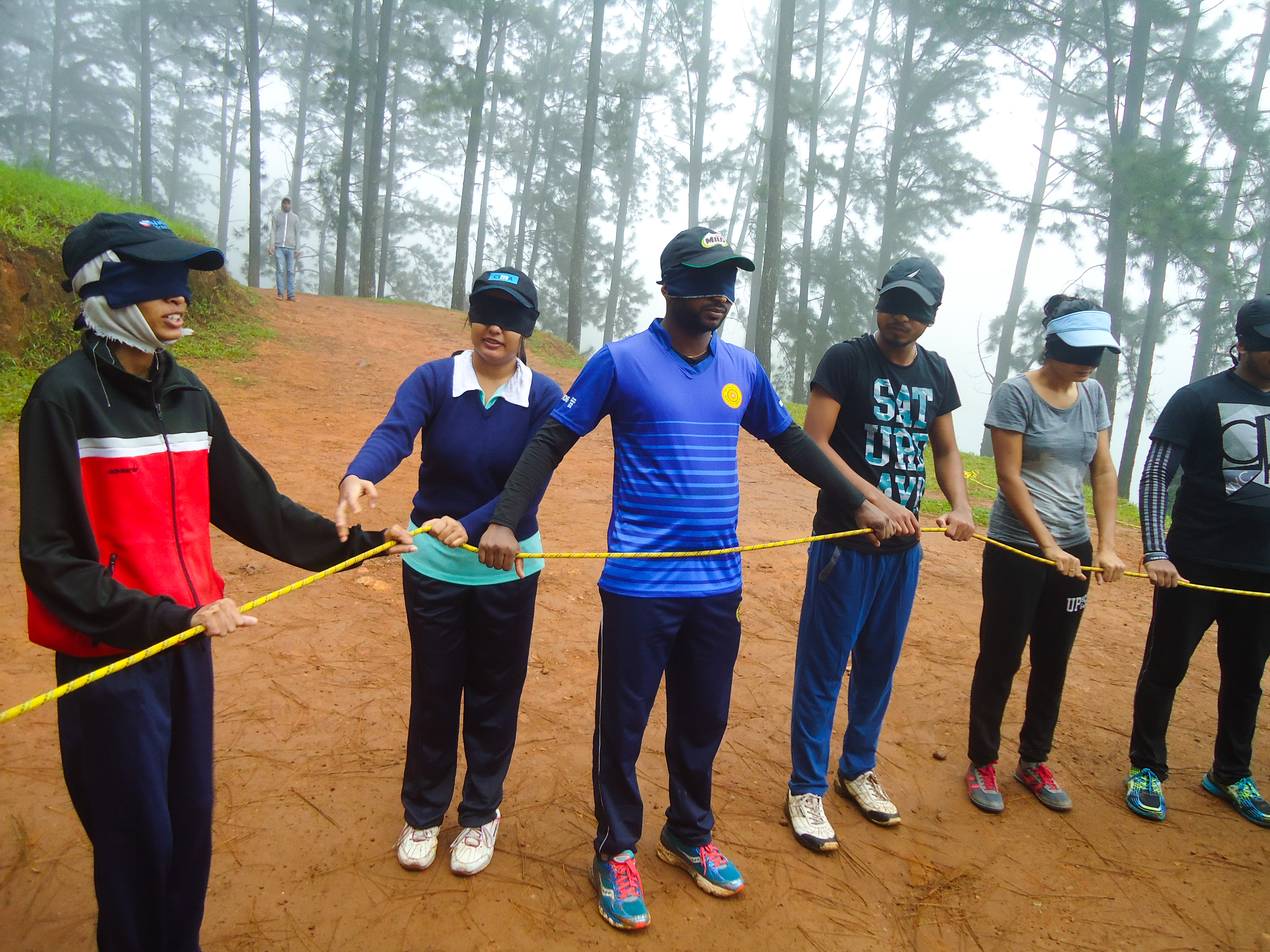 Outbound training program 2017 department of decision sciences some of the special activities organized were snake handling confidence jumps leadership and team building exercises freerunsca Images