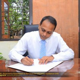 Dr. T. S. M. Amarasena Appointed as the Director of the Career Guidance Unit