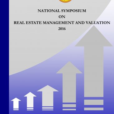 National Symposium on Real Estate Management & Valuation : 2016