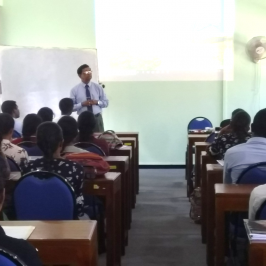 """A guest lecture on """"Real Estate Management & Valuation Profession in Sri Lanka"""""""