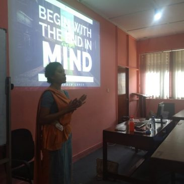 """""""Begin with End in Mind- Understanding the Concepts of Goal Setting, Attitudes and Personality"""""""
