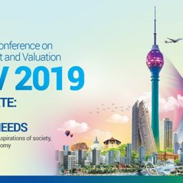 International Conference on Real Estate Management and Valuation (ICREMV) 2019