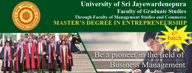 Applications are being called for Master's Degree in Entrepreneurship