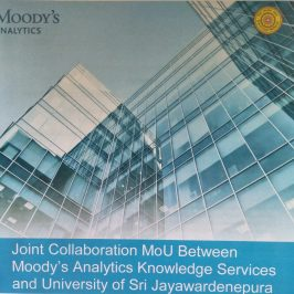MOU Between Moody's Analytics Knowledge Services and the Department of Finance