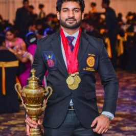 Uwin Ariyarathna will be awarded Sri Lanka University Colours for Rugby and Wrestling