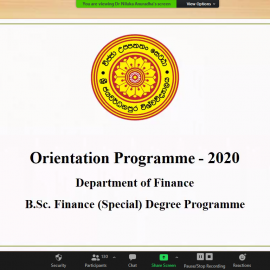 Second Year Orientation Programme- 2020
