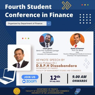 4th Student Conference in Finance – 2021