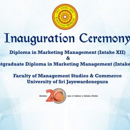 Inauguration Ceremony of the Diploma & Postgraduate Diploma in Marketing Management