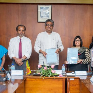 MOU was signed between, Unilever Sri Lanka and Department  of Marketing Management