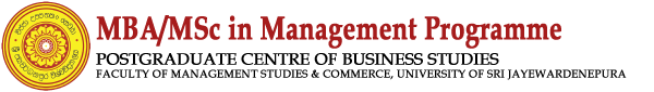 MBA/MSC in Management Programme