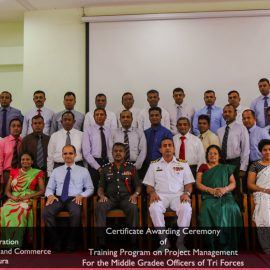 The Certificate Awarding Ceremony-Training Program on Project Management