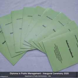 Inaugural of the Diploma in Public Management- 16th Intake