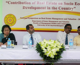 National Symposium on Real Estate Management and Valuation, 2015