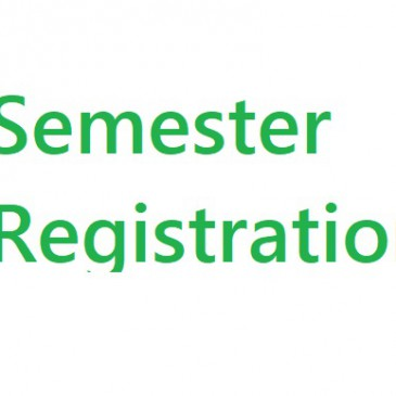 Registration of students for the second semester courses – Academic Year 2014/2015