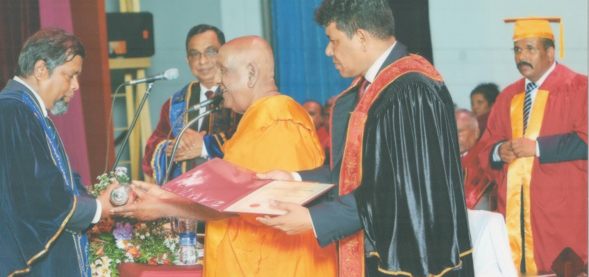 The Sabaragamuwa University of Sri Lanka confers D.Litt upon Senior Prof. Henarath Opatha