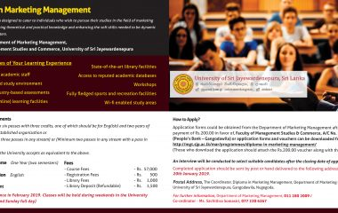 Call for Applications – Diploma in Marketing Management