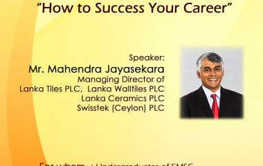 """""""How to success your career"""" – Guest Lecture"""