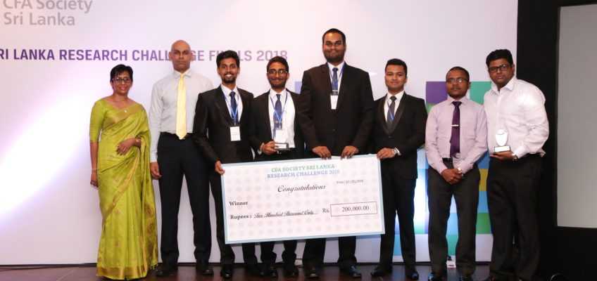 Dept of Finance Won the CFA Research Challenge 2018