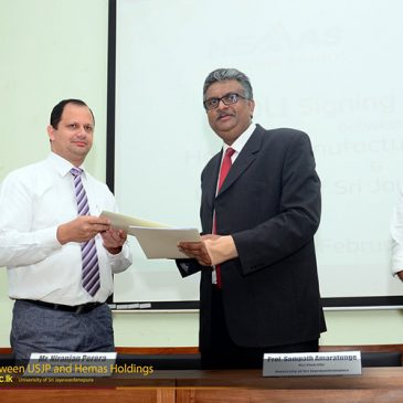 MOU between Dept. of Marketing and Hemas Holdings